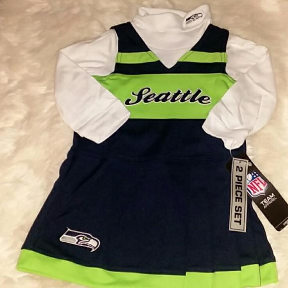 NWT Girls NFL Seattle Seahawks Dress Set 18 Months d913a447e